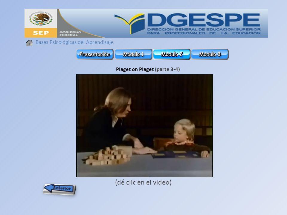 Piaget on Piaget (parte 3-4)