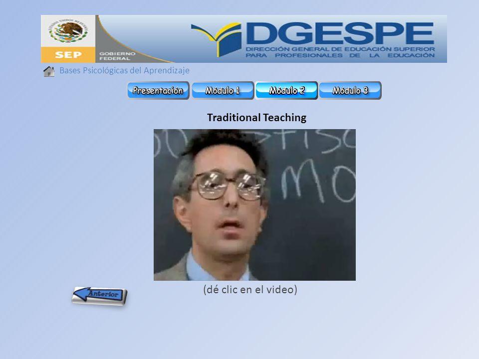 Traditional Teaching (dé clic en el video)