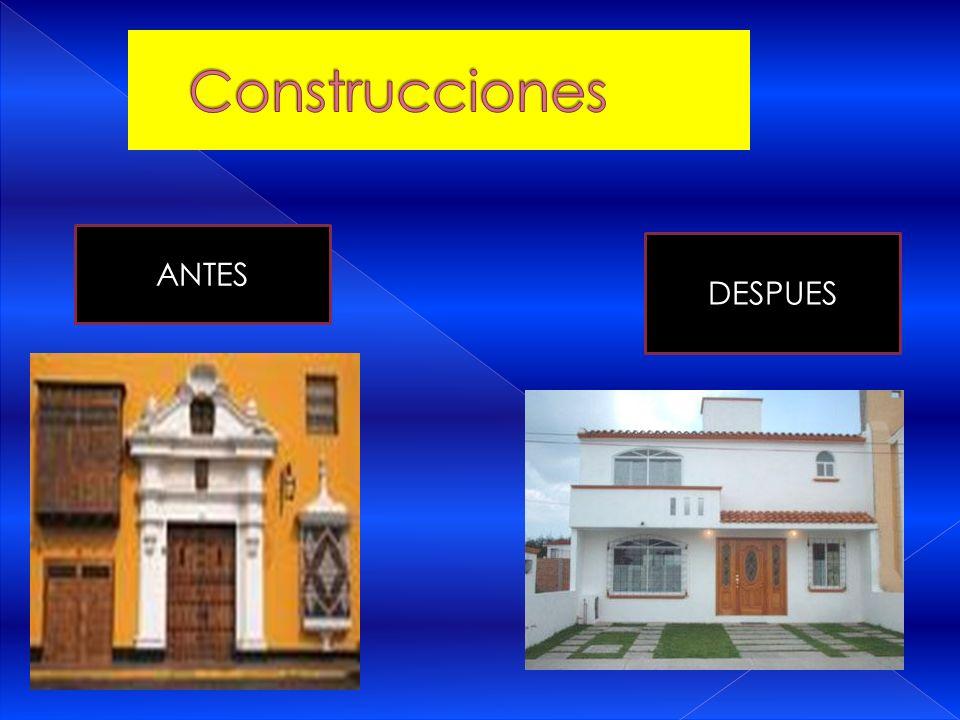 Construcciones ANTES DESPUES