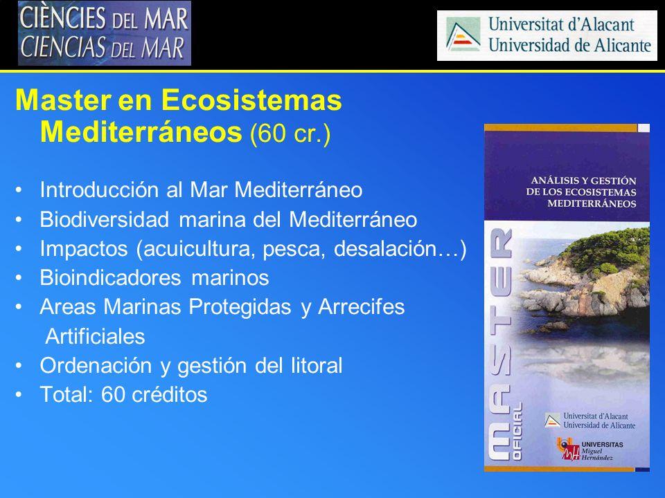 Master en Ecosistemas Mediterráneos (60 cr.)