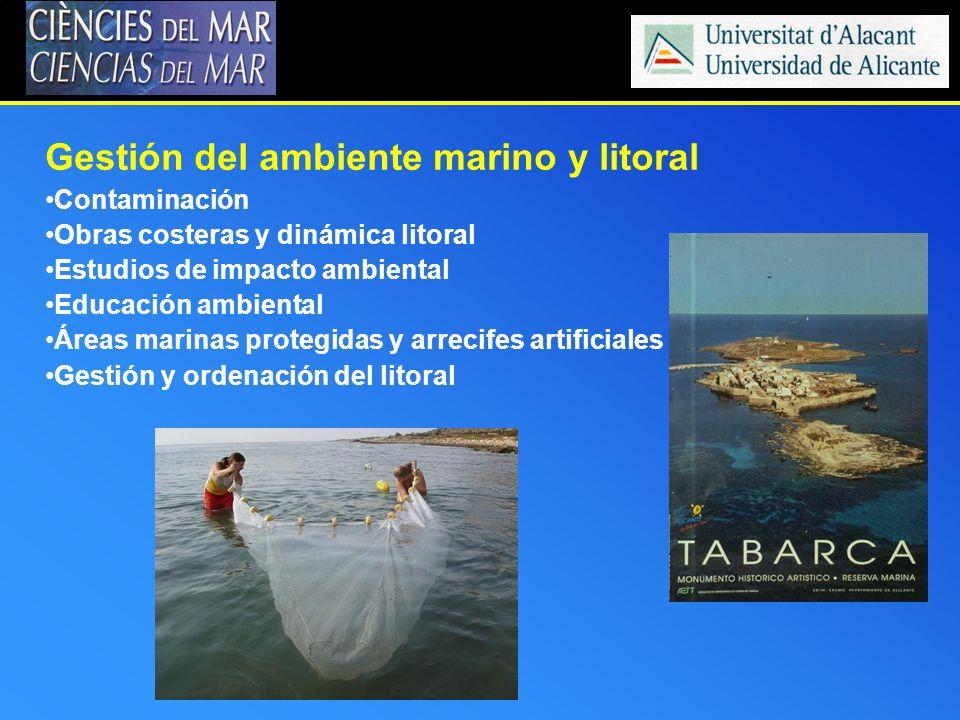 Gestión del ambiente marino y litoral