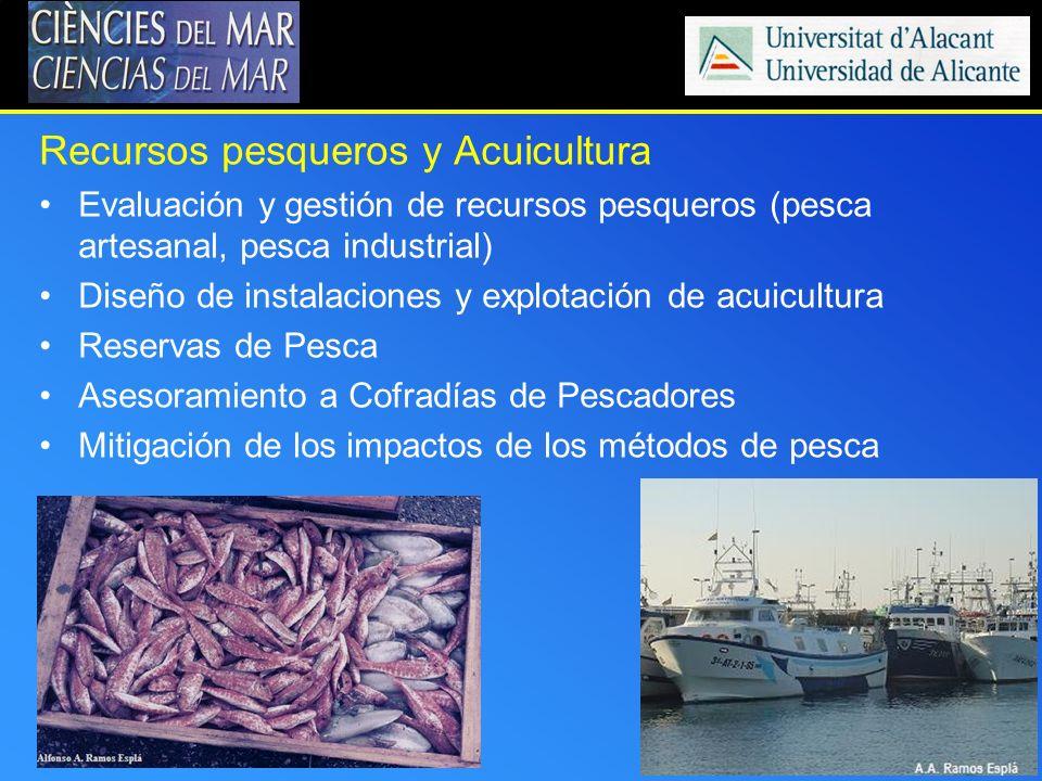 Recursos pesqueros y Acuicultura