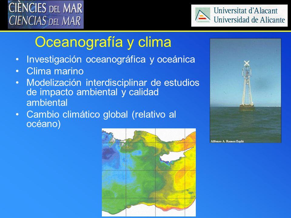 Oceanografía y clima Investigación oceanográfica y oceánica