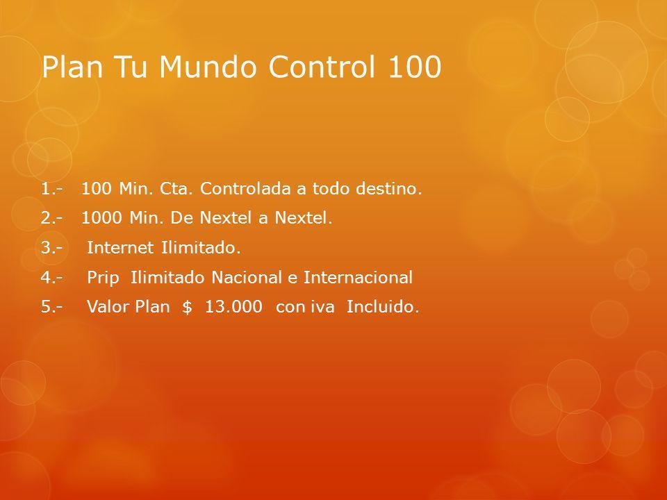 Plan Tu Mundo Control 100