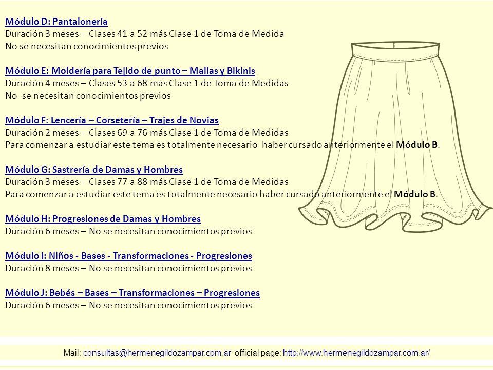Módulo D: Pantalonería