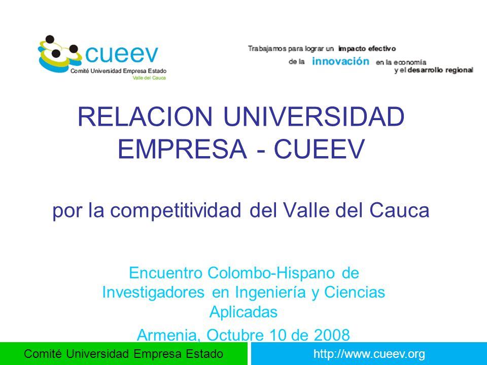 RELACION UNIVERSIDAD EMPRESA - CUEEV por la competitividad del Valle del Cauca