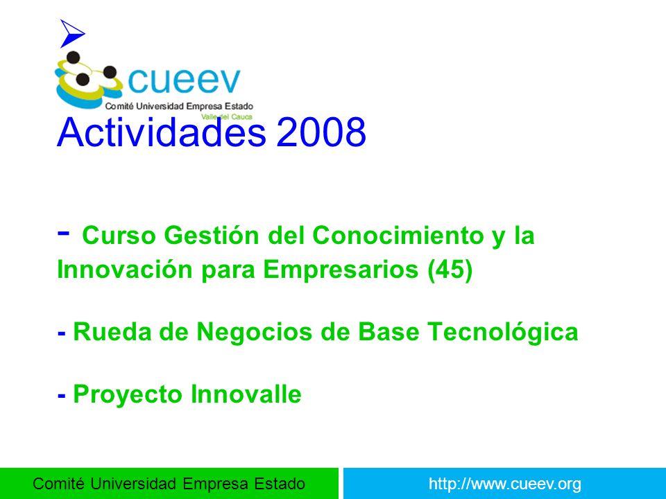 Actividades 2008 - Curso Gestión del Conocimiento y la Innovación para Empresarios (45) - Rueda de Negocios de Base Tecnológica - Proyecto Innovalle