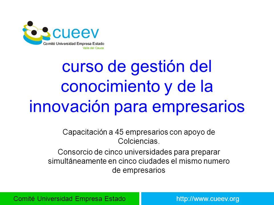 curso de gestión del conocimiento y de la innovación para empresarios
