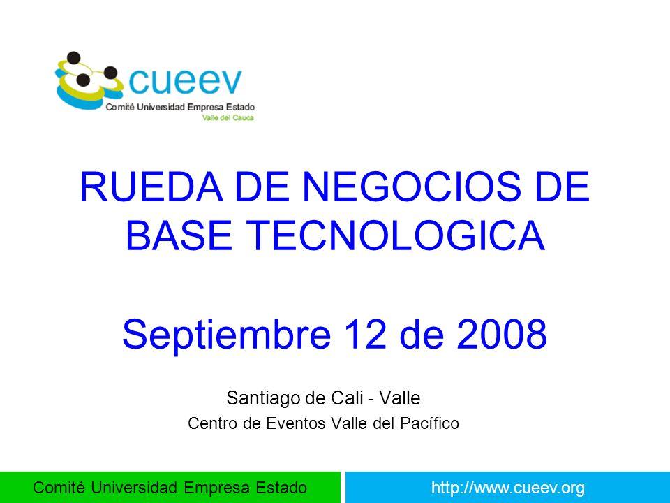 RUEDA DE NEGOCIOS DE BASE TECNOLOGICA Septiembre 12 de 2008
