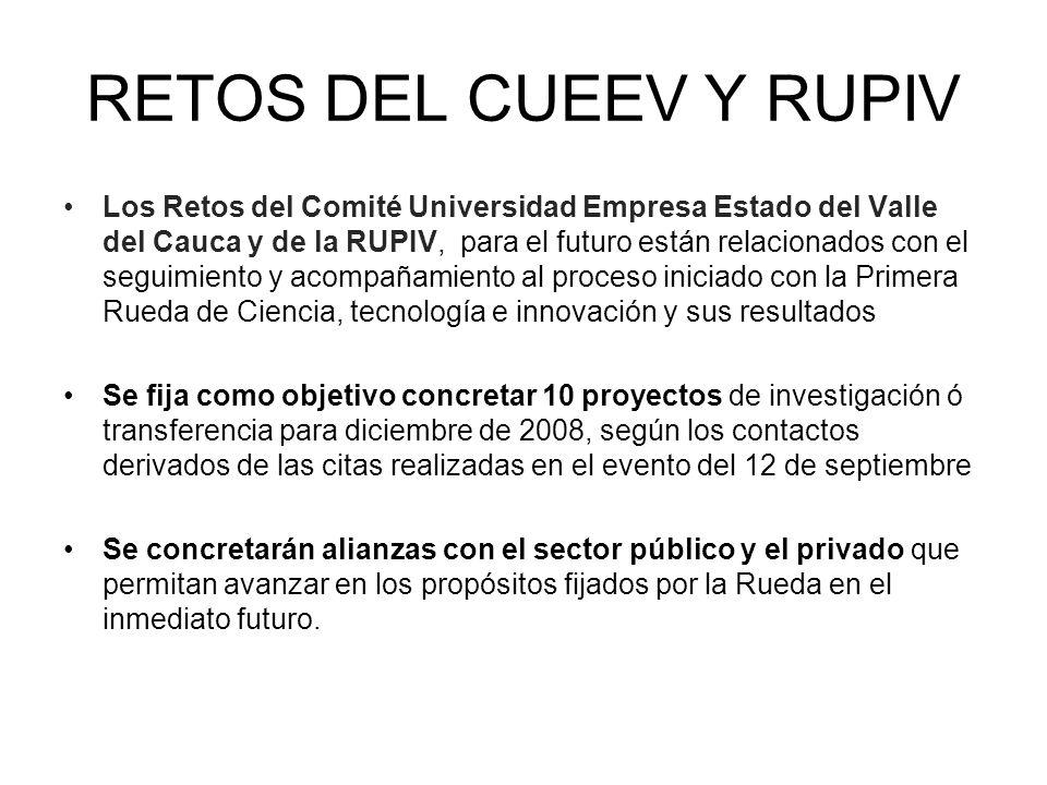 RETOS DEL CUEEV Y RUPIV