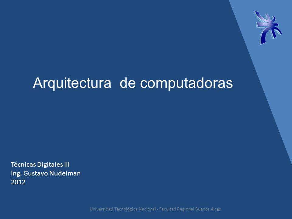 Arquitectura de computadoras