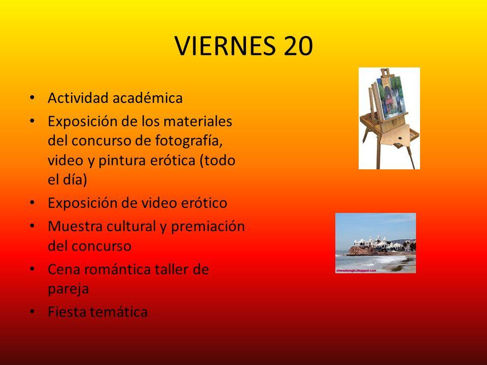 VIERNES 20 Actividad académica