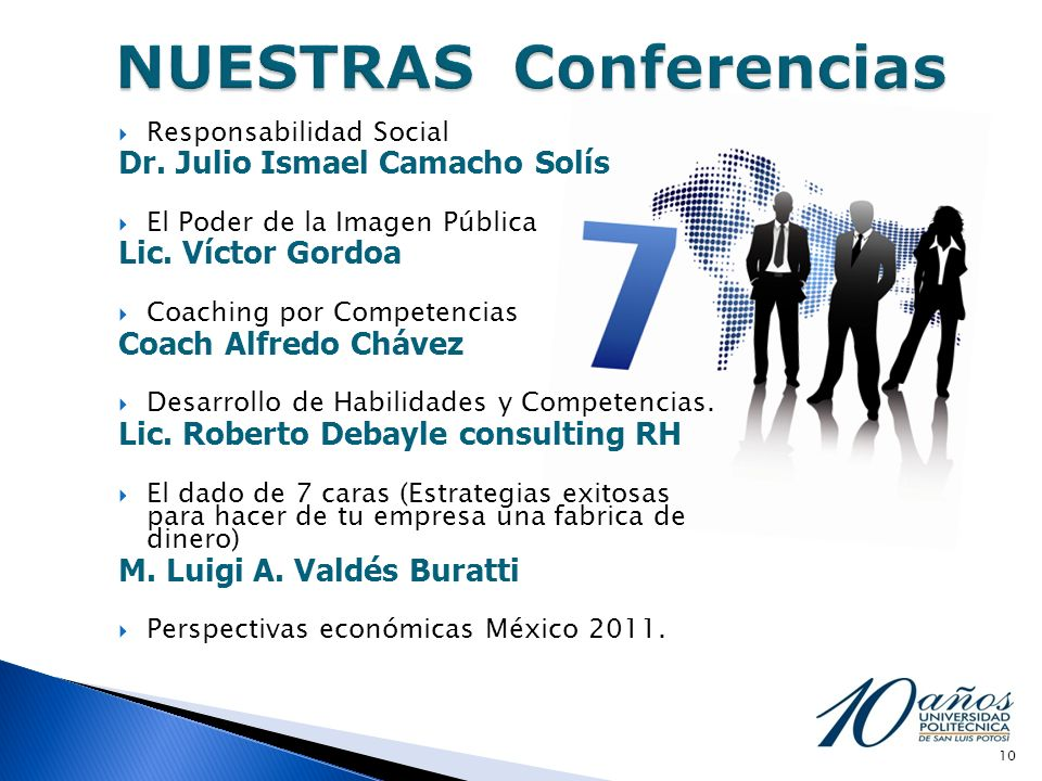 NUESTRAS Conferencias