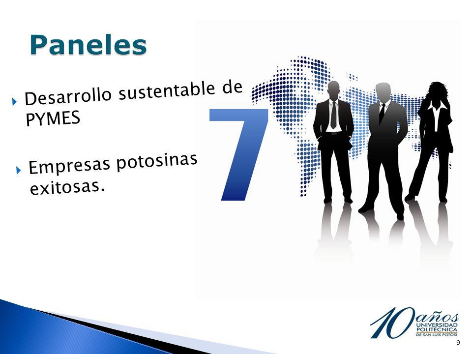 Paneles Desarrollo sustentable de PYMES Empresas potosinas exitosas.
