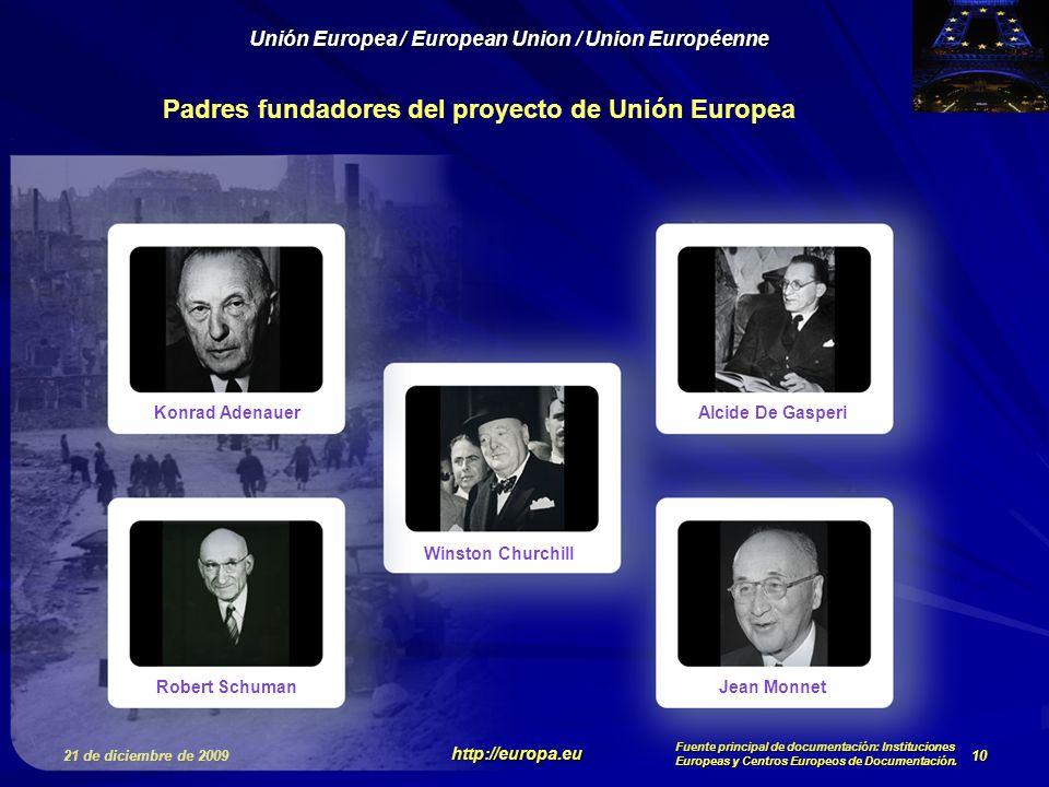 Padres fundadores del proyecto de Unión Europea