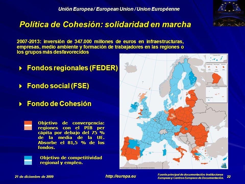 Política de Cohesión: solidaridad en marcha