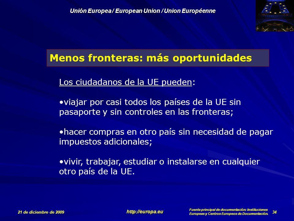 Menos fronteras: más oportunidades