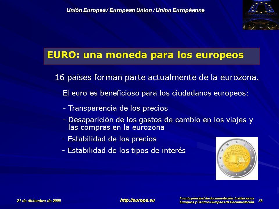 EURO: una moneda para los europeos
