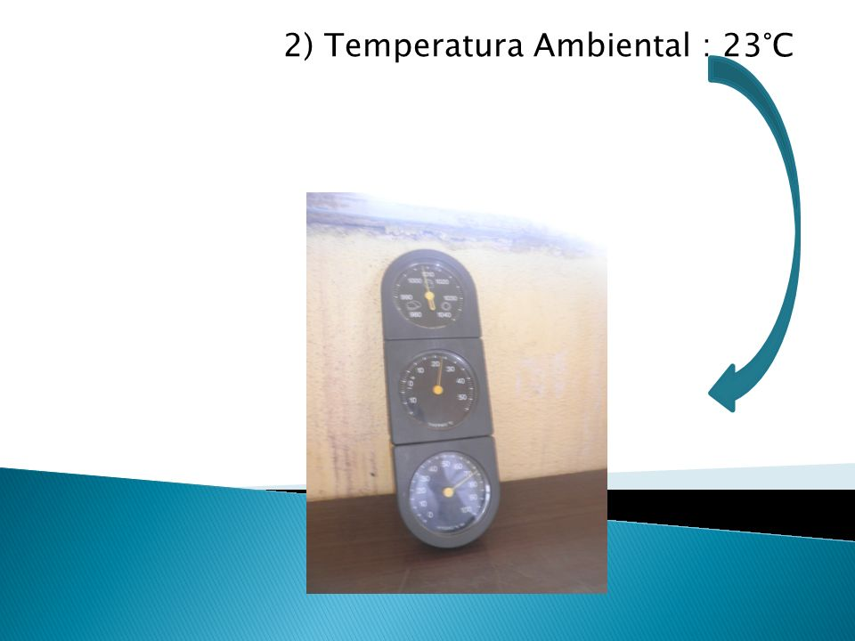 2) Temperatura Ambiental : 23°C