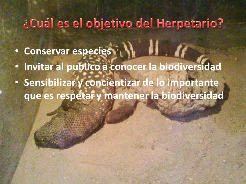 ¿Cuál es el objetivo del Herpetario
