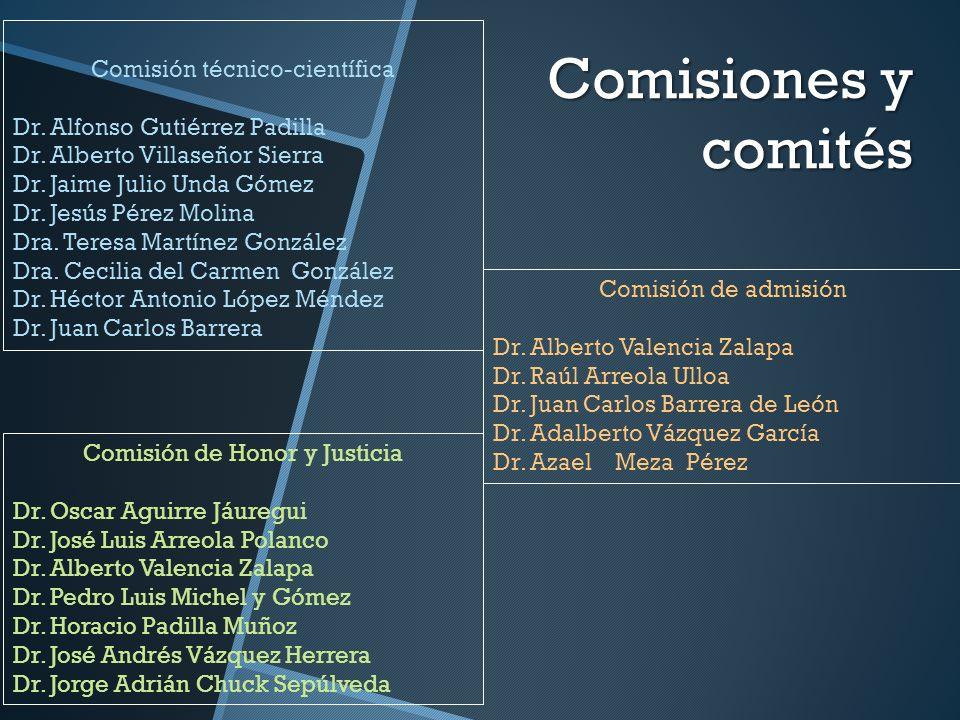 Comisiones y comités Comisión técnico-científica