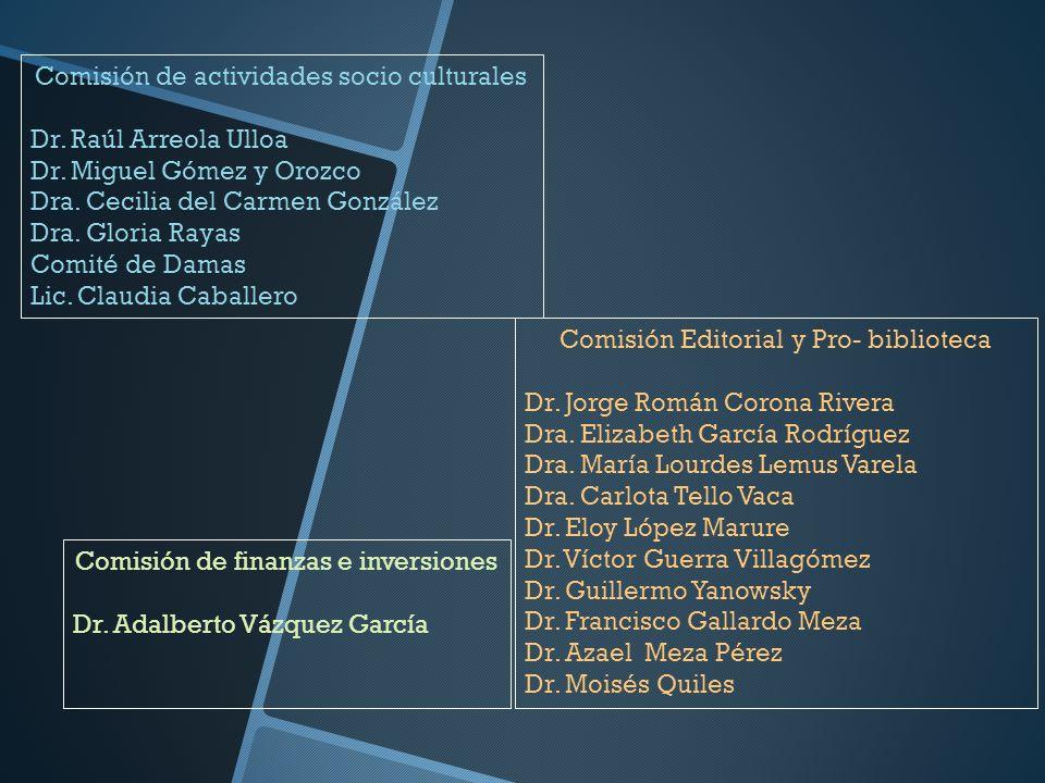 Comisión de actividades socio culturales Dr. Raúl Arreola Ulloa