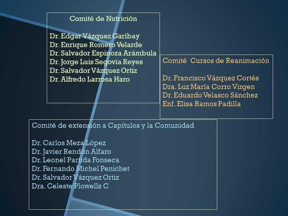Comité de Nutrición Dr. Edgar Vázquez Garibay. Dr. Enrique Romero Velarde. Dr. Salvador Espinoza Arámbula.