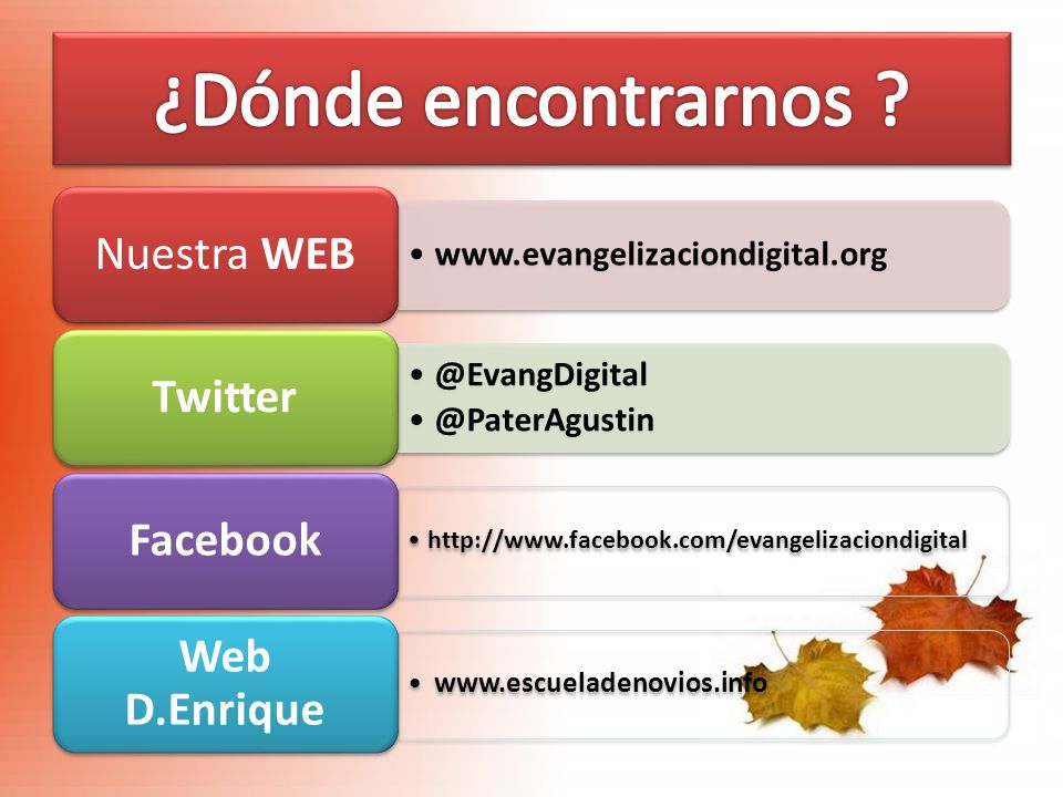 ¿Dónde encontrarnos www.escueladenovios.info