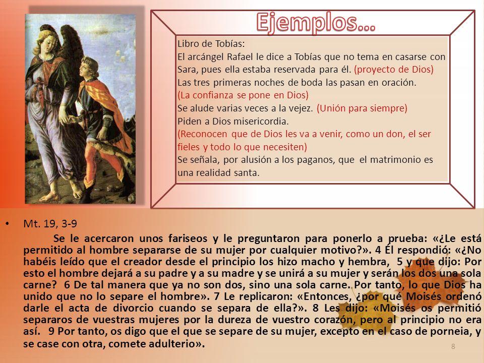 Ejemplos… Libro de Tobías: