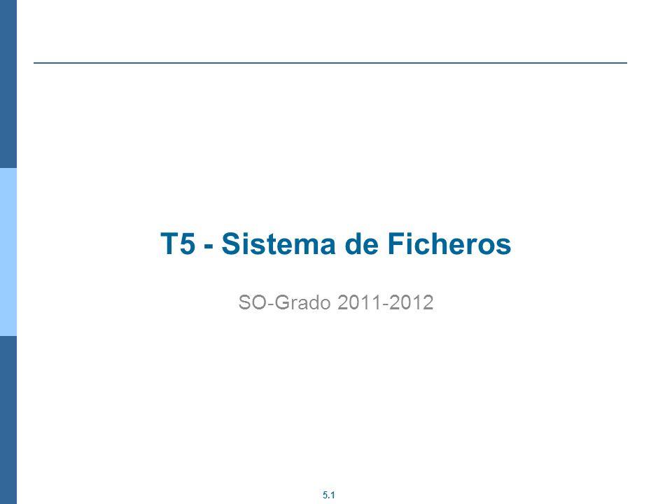 T5 - Sistema de Ficheros SO-Grado 2011-2012