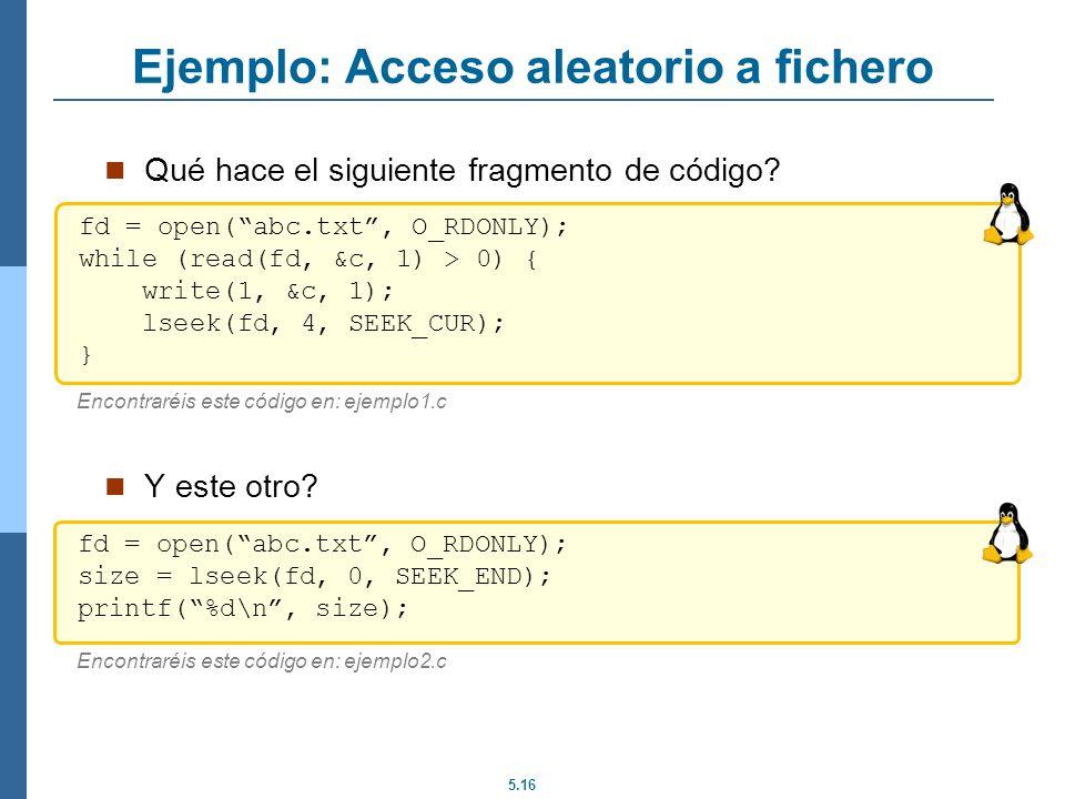 Ejemplo: Acceso aleatorio a fichero