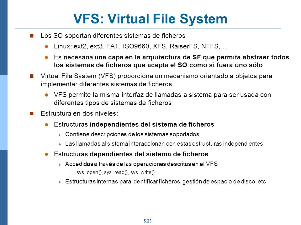VFS: Virtual File System
