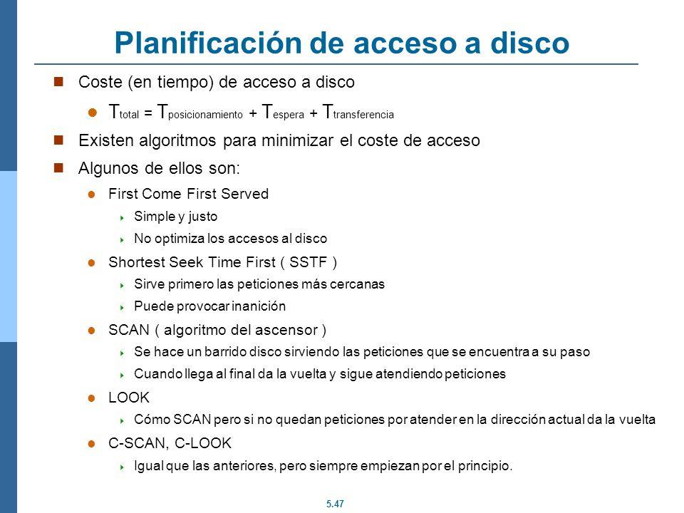 Planificación de acceso a disco