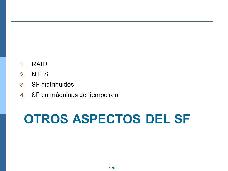 Otros aspectos del SF RAID NTFS SF distribuidos
