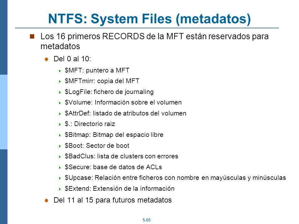 NTFS: System Files (metadatos)