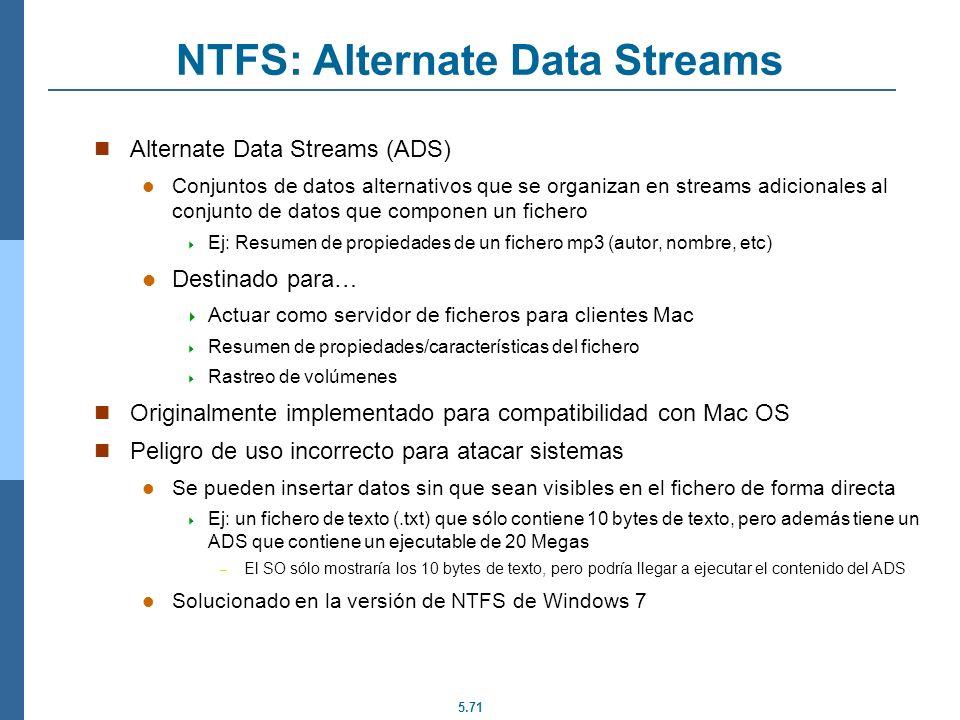NTFS: Alternate Data Streams