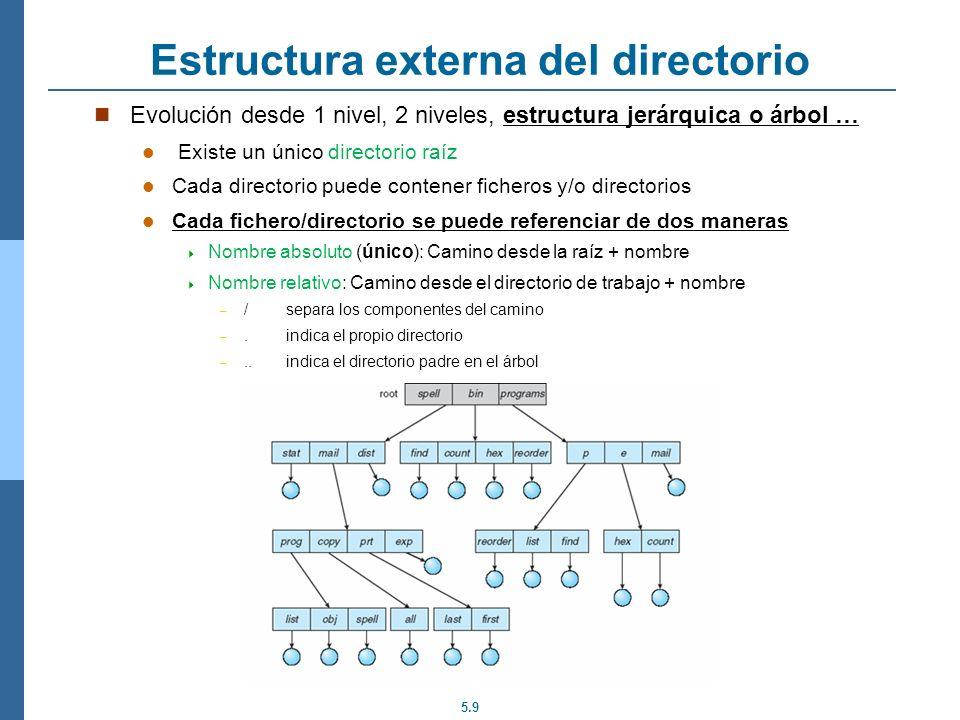 Estructura externa del directorio