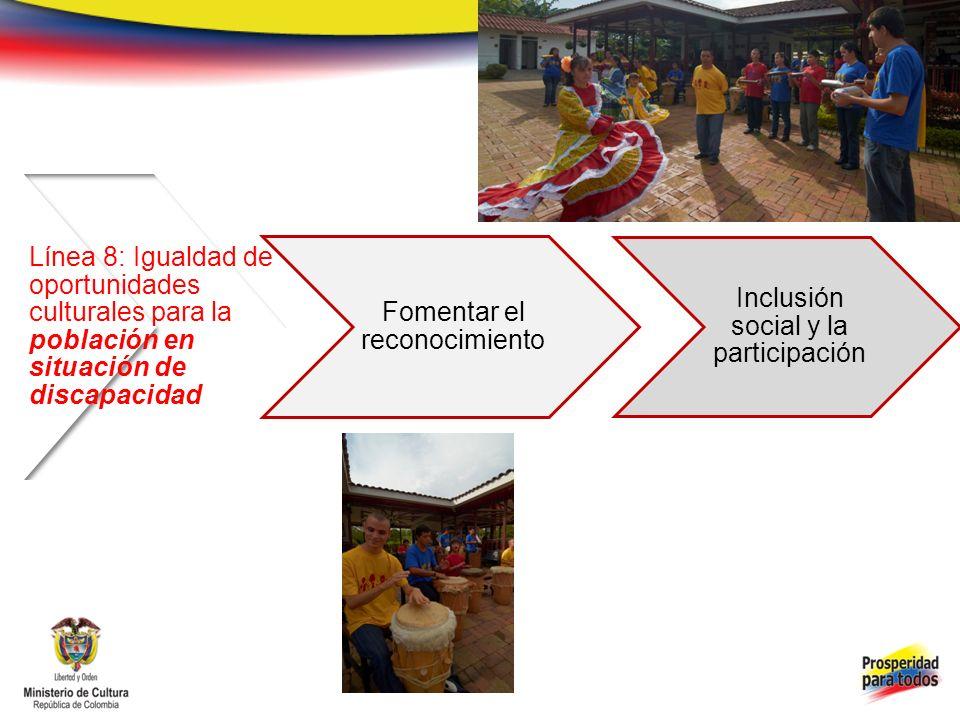 Fomentar el reconocimiento Inclusión social y la participación