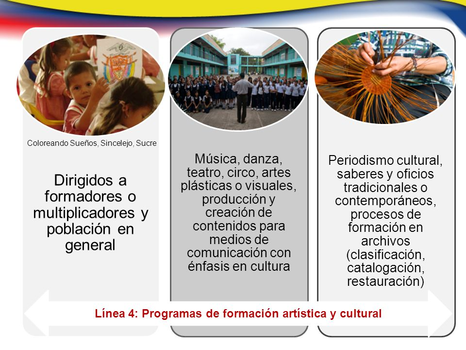Línea 4: Programas de formación artística y cultural