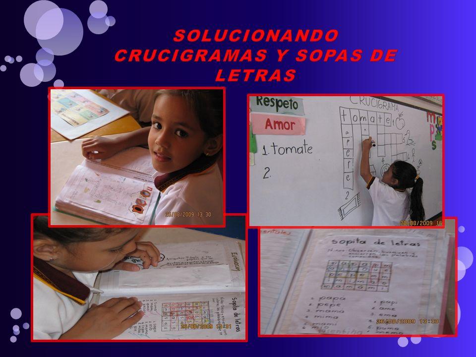 SOLUCIONANDO CRUCIGRAMAS Y SOPAS DE LETRAS
