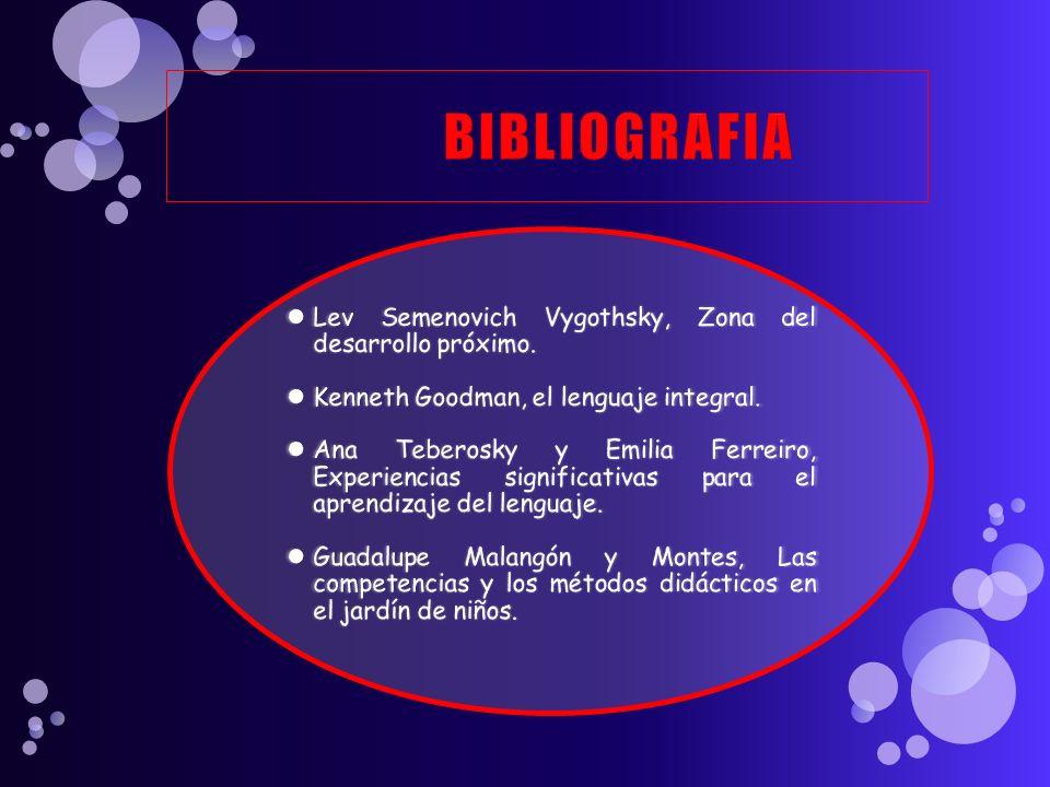 BIBLIOGRAFIA Lev Semenovich Vygothsky, Zona del desarrollo próximo.