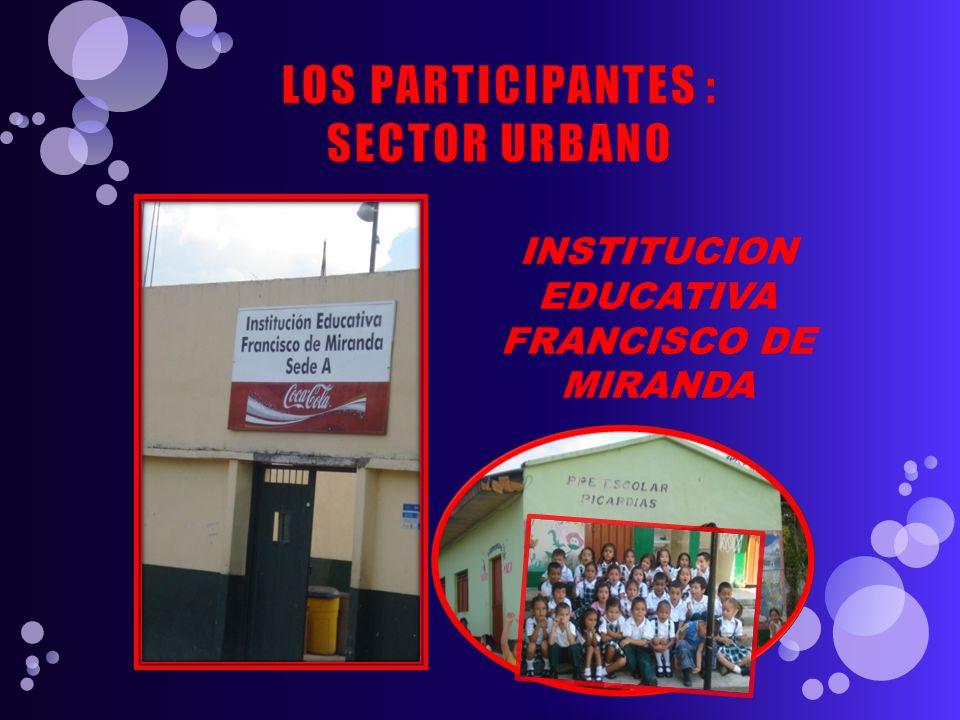 LOS PARTICIPANTES : SECTOR URBANO