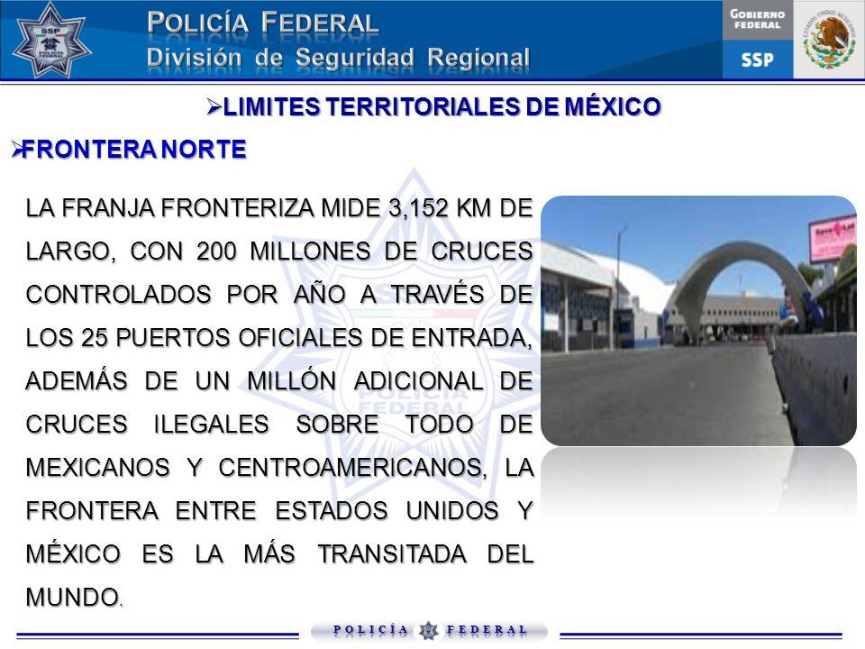 LIMITES TERRITORIALES DE MÉXICO