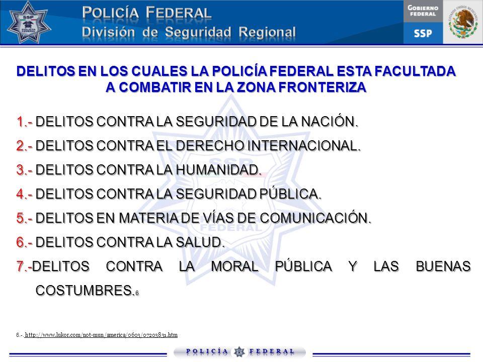 2.- DELITOS CONTRA EL DERECHO INTERNACIONAL.