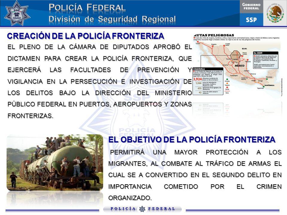 EL OBJETIVO DE LA POLICÍA FRONTERIZA