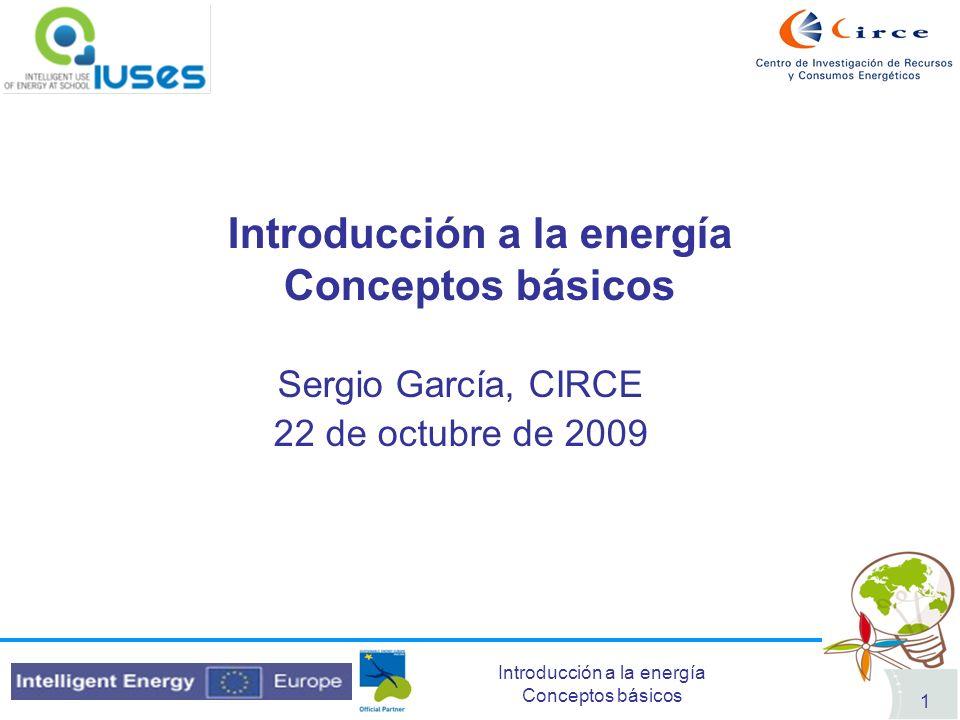 Introducción a la energía Conceptos básicos