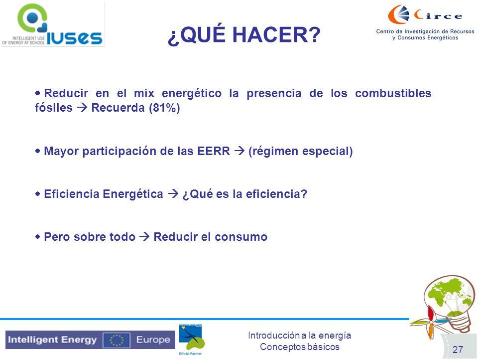 ¿QUÉ HACER Reducir en el mix energético la presencia de los combustibles fósiles  Recuerda (81%)