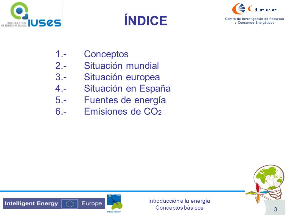 ÍNDICE 1.- Conceptos 2.- Situación mundial 3.- Situación europea