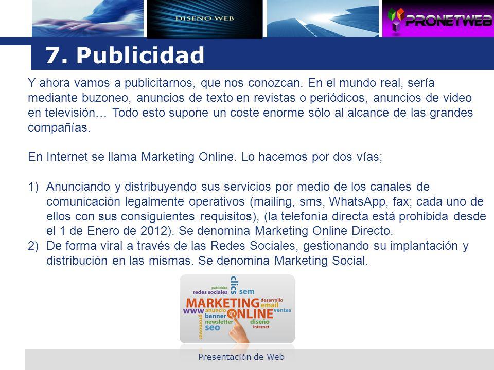 7. Publicidad
