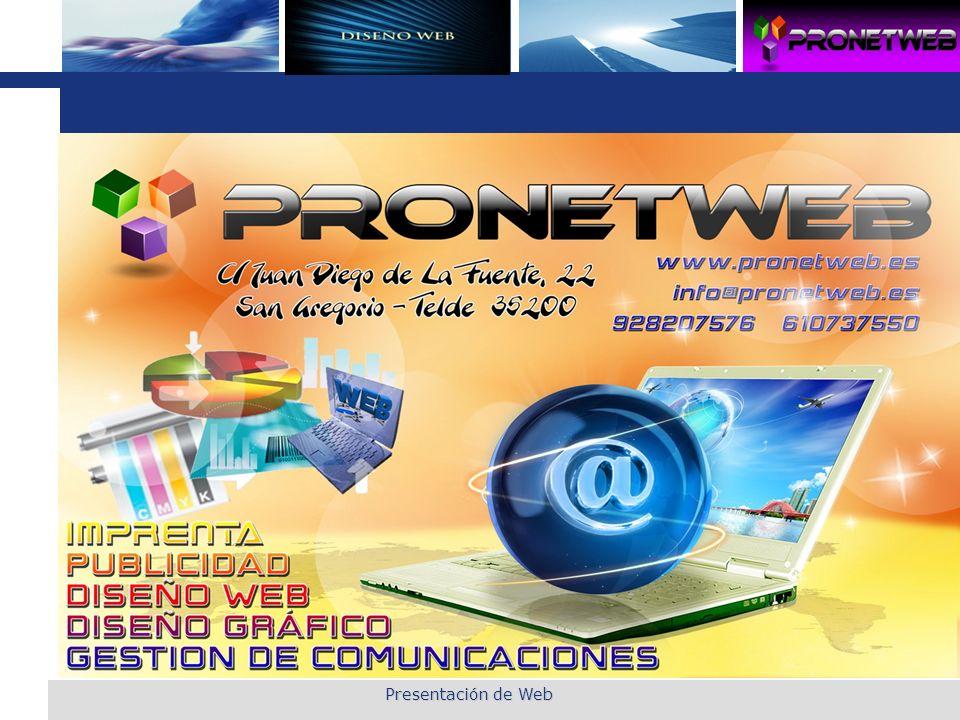 Presentación de Web